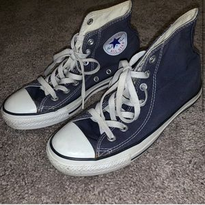 Navy Blue High Top Converse